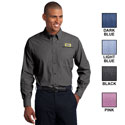 MEN'S PORT AUTHORITY CROSSHATCH EASY CARE SHIRT